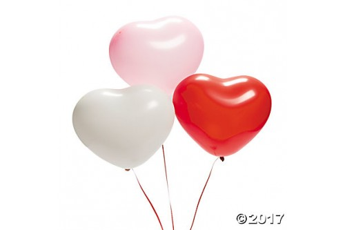 11 inches heart-shaped-latex-balloons