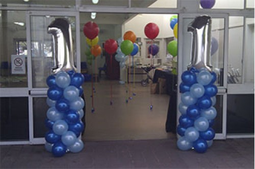One Pair Balloon column with number balloon 1.7m