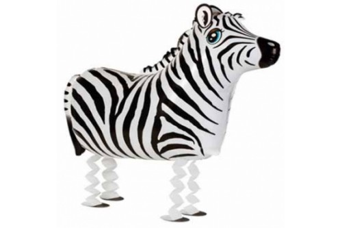 Air Walking Zebra Balloon (Helium Add on $3)