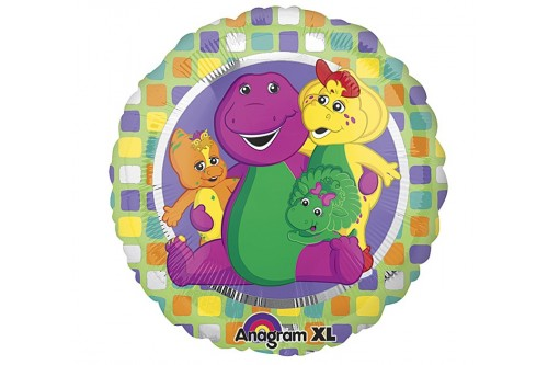 18 Inch Anagram Barney Balloon