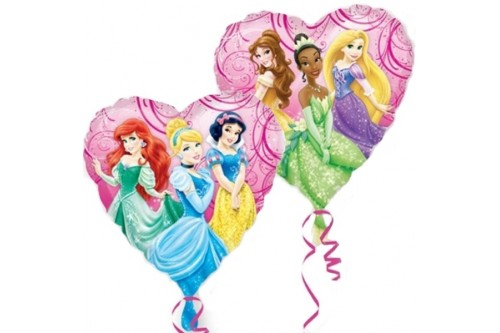 18 Inch Anagram Disney Princess Heart-shaped Balloon