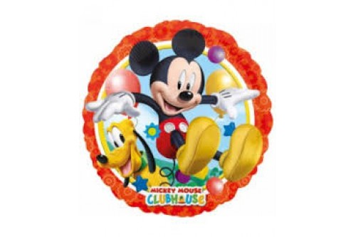 18 Inch Anagram Mickey Mouse with Pluto Foil Balloon