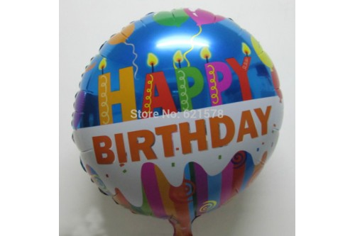18 Inch Blue Happy Birthday Balloon