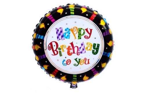 18 Inch Candle Happy Birthday Balloon