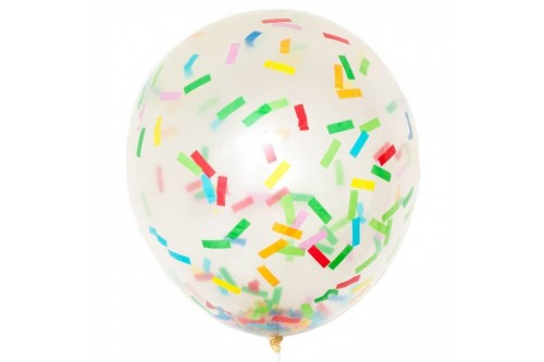 36 Inch Latex Confetti Balloon