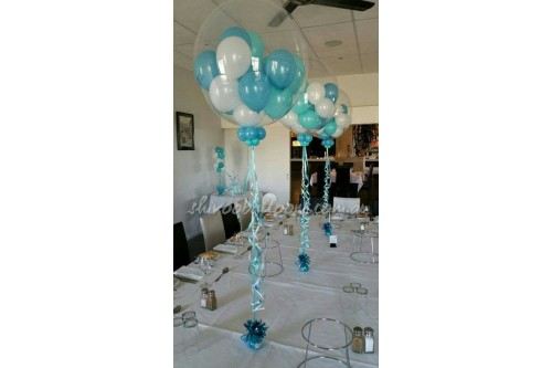 Clear Pedestal with Small Inner Balloons (Contact us for more details)