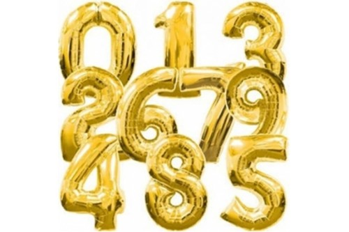 Giant 40 Inch Number Balloons (Gold)
