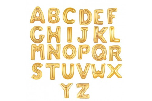Giant 40 Inch Gold Alphabet Balloons