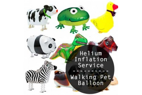 Air Walking Pet Balloon Helium Inflation Service