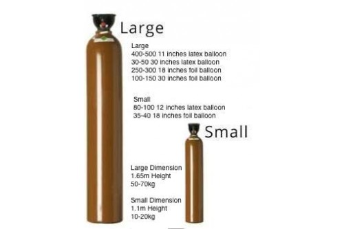 Large Helium Gas Tank Rental (Inclusive of Delivery and Collection)