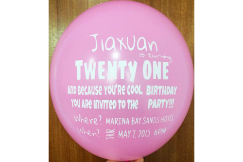 Balloon Printing Services Type 21 (Contact us for more details)
