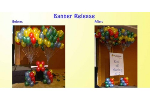 Balloon Banner Release (Contact us for more details)